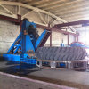 Huge Used Tire Cut Into Several Pieces / Tyre Cutter Machine