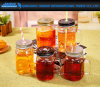 Vintage Transparent Glass Mason Jar for Salad & Fruit