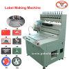 automatic pvc rubber patch/label/logo making machine