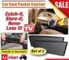 2PCS Black Catch Catcher Box Caddy Car Seat Gap Slit Pocket Storage Organizer (Bag22)