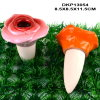 Ceramic Rose Shaped Mushroom for Garden Decoration