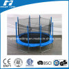 Oval Shape Big Trampoline with Enclosure
