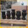 Factor Direct Sale of High Quality Black Granite Vase for Cemetery