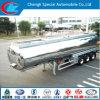 Aluminum Alloy Oil Tank Trailer 42 Cbm Aluminum Fuel Tanker Trailer