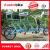 Tandem Bicycle Four Wheels Bicycle for Rental Bikes Beach Side Surrey Bike