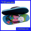 New PE Beach Slippers with Flower Printing