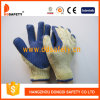 Ddsafety 2017 Knitted Cotton Blue Rubber Coated Glove Safety Gloves