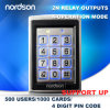 Top Sale Waterproof Metal Standalone RFID Card Access Control System with Luminous and Access Keypad