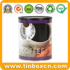 750g Food Grade Metal Tin Coffee Can with Plastic Cover