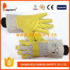 Yellow PVC Chemical Resistant Oil Resistant Glove Safety Gloves Dpv103