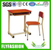 Wooden Modern Middle Classroom Student Desk and Chair
