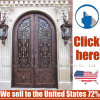 Cheap Price Steel Wrought Iron Door Gate