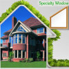 Modern Specialty Aluminum Window for Villa by China Supplier, Luxury High End Villa Use Round Top Arch Window