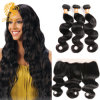 13X4 Ear to Ear Lace Frontal Closure with Bundles 8A Brazilian Body Wave with Frontal Closure Brazilian Virgin Hair with Closure