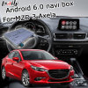 Android 6.0 GPS Navigation Box for Mazda 3 Axela Mzd Connect Video Interface Knob Control Waze