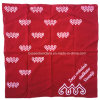 China Factory Produce Customized Logo Printed Red 50*50cm Cotton Bandanna Big Handkerchief