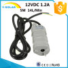 12VDC 1.2A 5m 14L/Min-600lh Solar Aquarium Three Core Micro Submersible Motor Water Pump
