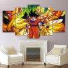 Modern Canvas Painting Framework HD Printed Wall Art Pictures 5 Pieces Anime Dragon Ball Super Hero Goku Poster Room Home Decor