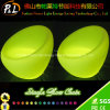 Garden Lounge Furniture Rechargeable Lighting Round LED Sofa