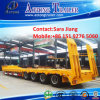 80tons Construction Machinery Transport Low Flatbed Semi Trailers for Sale