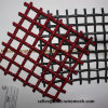 China Factory Red Color Square Crimped Wire Mesh