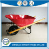 6cbf 100L Wood Handle Construction Heavy Duty Wheelbarrow