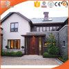 White Solid Oak Wood Clad Aluminum Alloy Bay & Bow Window, Customized Size Wood Clad Aluminum Casement Window