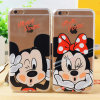 Mickey Cartoon Soft TPU Case for Apple iPhone IMD Gel Back Cover