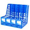 Large Capacity 4 Columns Desktop Plastic File Box