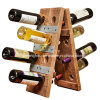 Vintage-Style Tabletop 16 Bottles Wooden Wine Rack for Home