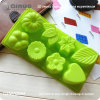 22.9*12*3cm Food Silicone Molds with 8 Flowers and Leaves