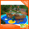 Mutifunctional Wooden Pirate Ship Outdoor Playground Equipment with Slide