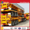Tri-Axle Flat Platform Container Semi Trailer for 20FT 40FT