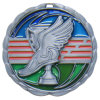 Epoxy Enamel Medal Antique Silver Plating