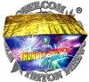 Thunder Struck 49 Shots Fan Cake Fireworks
