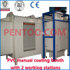 PVC Manual Powder Coating Booth with 2 Working Stations