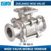 CF8 3 Piece Clamp Ball Valve with ISO 5211
