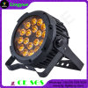 DMX 18X18W RGBWA UV Stage Light Flat Outdoor LED PAR