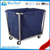Strong Cone Shape Hotel Solid Linen Laundry Trolley with Bottom Price