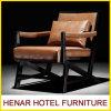 Fashion Design Oak Wood Armrest Orange Dining Room Chair