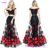 Hot Sale Two-Piece Mermaid Evening Dress with an Appliqued Flower Skirt and off The Shoulder Bodice