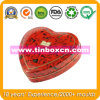 Heart-Shaped Candy Tin for Wedding, Gift Tin Box