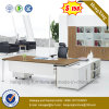 L Shape Melamine Executive Desk Metal Leg Office Furniture (NS-ND119)