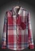 Men′s Cotton Yarn Dyed Long Sleeve Casual Shirt