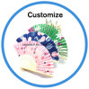 Custom Paper Lace Silk Hand Fan