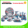 Complete 15 PCS China Floral Dinnerware Set with Plates Dishes