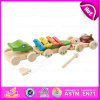 2015 New Wooden Pull Music Toy, Lovely Kids Pull Toy with Instrument, Hot Sale Pretend Play Wooden Pull Toy W05b121