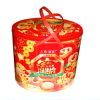 New Year Metal Cookie Box with Handle