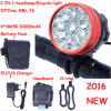 Waterproof 18000lm Max Cool White Long Shot Xml 10 LED CREE T6 Bike Light