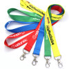 Custom Logo Sublimation Heated Transfer Neck Nylon Woven Polyester Printing Lanyard for Promotional ...